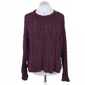 American Eagle Outfitters Lace Cable Sweater